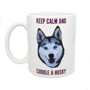 Husky Cuddle mug