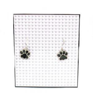 Black Pawprint Earrings