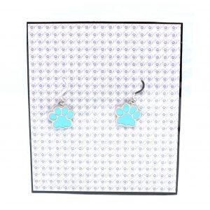 Blue Pawprint Earrings