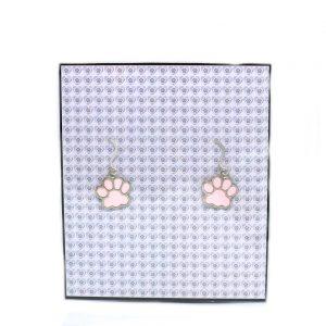 Pink Pawprint Earrings